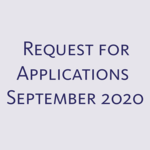 Request for Applications - September 2020